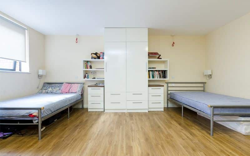 shared room, no en-suite