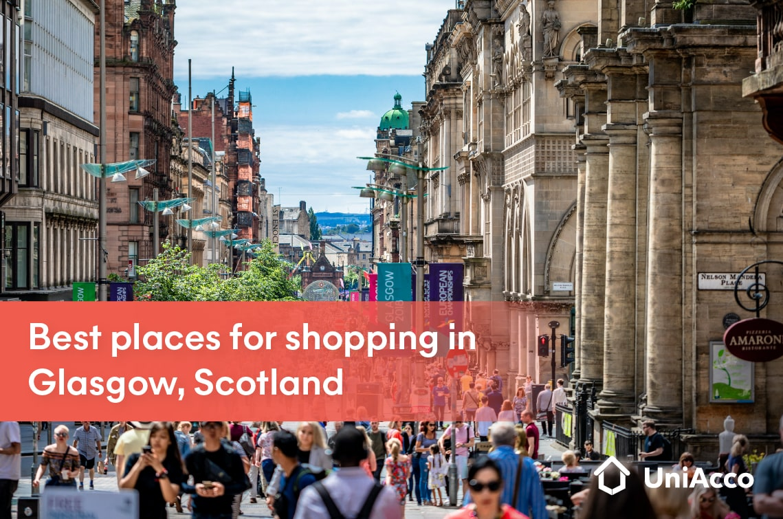 Best places for shopping in Glasgow, Scotland