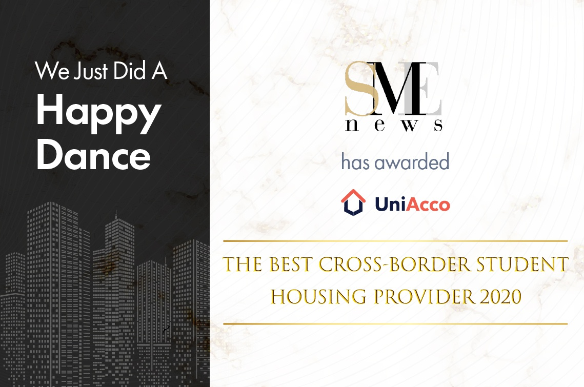 UniAcco Wins Best Cross-Border Student Housing Provider 2020